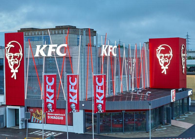 KFC Mendrisio Werbeanlagen Tagansicht