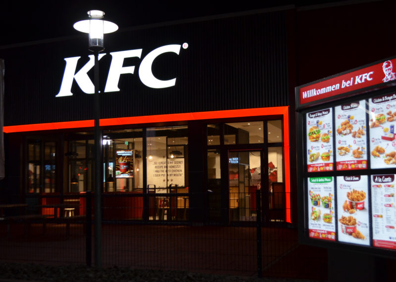KFC Schwäbisch Hall Lichtwerbung