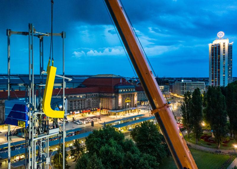 Leipziger Verkehrbetriebe Logotausch Mobilitätszentrum