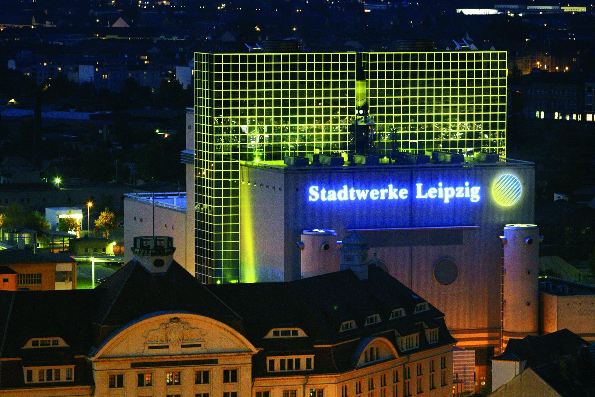 Leipziger Stadtwerke GuD Kraftwerk Nachansicht