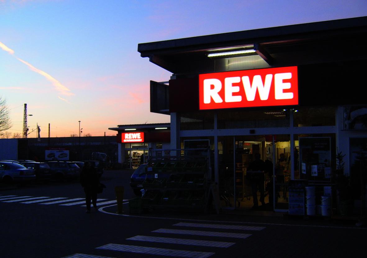 REWE Lichtwerbung