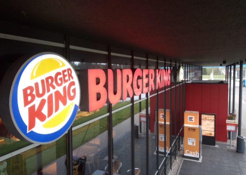 Burger King Außenwerbung Tank & Rast