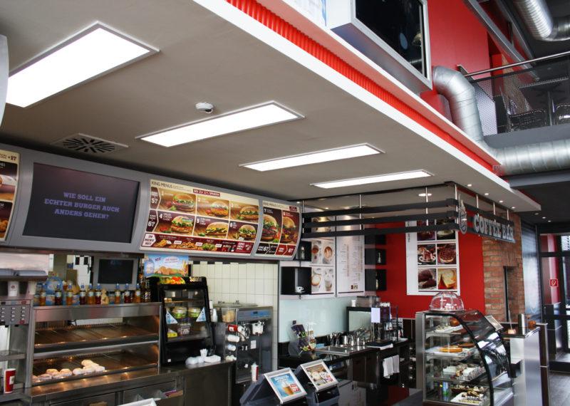 Burger King Beleuchtung