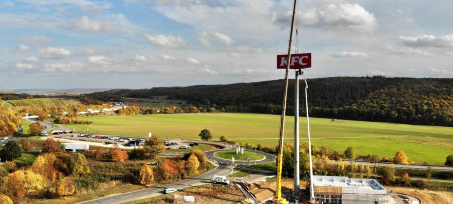 KFC Waldlaubersheim advertising pylon